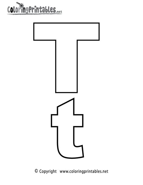 Alphabet Letter T Coloring Page A Free English Coloring T Coloring Pages