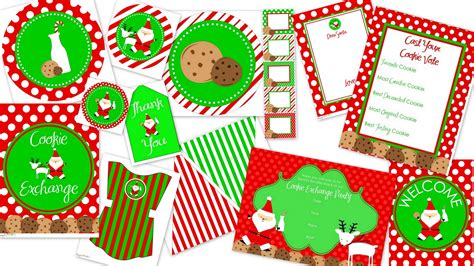 free printable christmas cookie tags host a cookie swap download your free printables