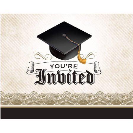 Graduation Cap Invitations Cards
