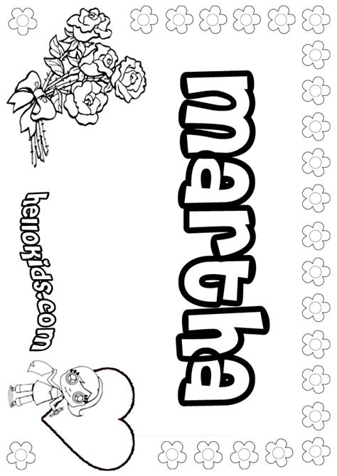 Martha And Coloring Page martha coloring pages hellokids
