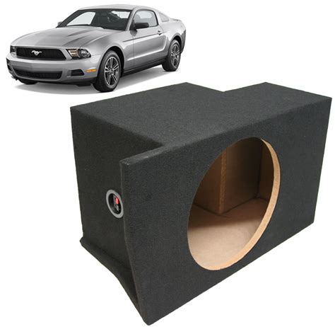 ford mustang subwoofer box 2005 2013 ford mustang custom fit single 10 quot speaker sub
