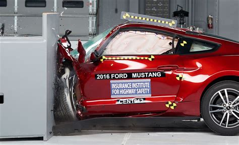 crash test mustang camaro challenger fall in iihs crash tests