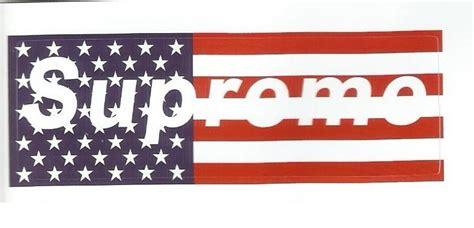 Supreme Tv Sticker