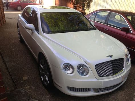 bentley wrapped bentley continental vinyl wrapped pearl white by