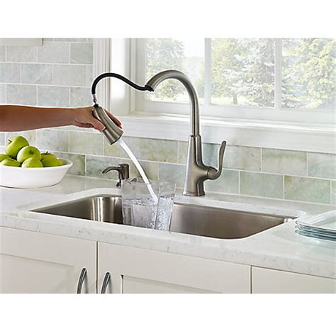 slate pasadena 1 handle pull kitchen faucet f 529