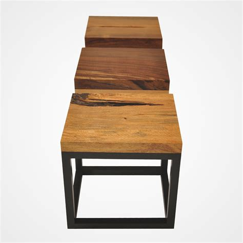 Wood Side Table Reclaimed Wood Side Table Tamburil Top Rotsen Furniture