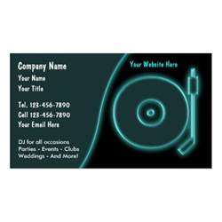 Dj Business Cards Templates Dj Business Cards Zazzle