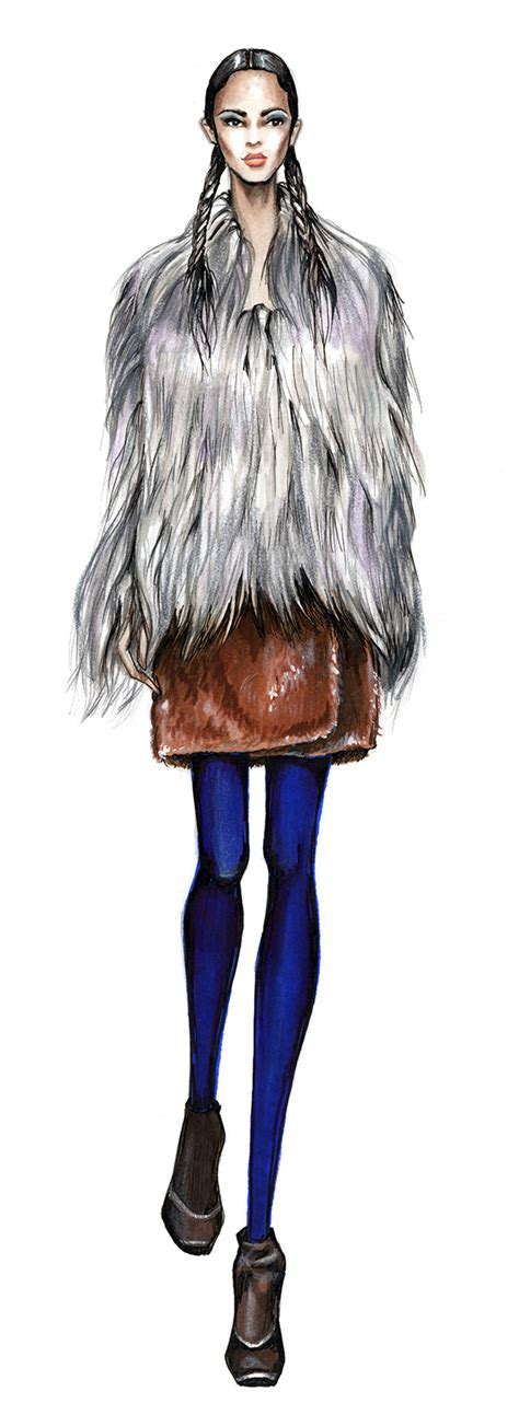 drawing how to draw a stylish fur coat are you yeti