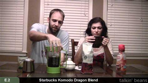 starbucks komodo dragon coffee review tasting youtube