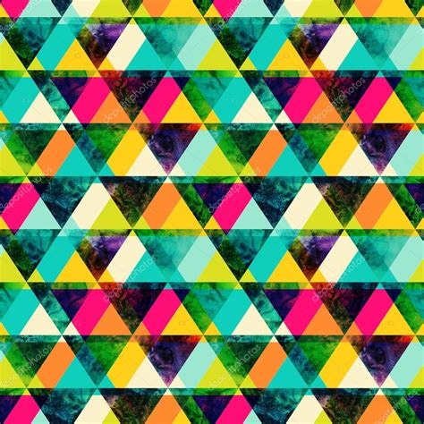 triangle pattern hipster watercolor triangles seamless pattern modern hipster