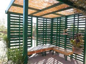 Backyard Pallet Furniture Pallet Patio Shade Youtube