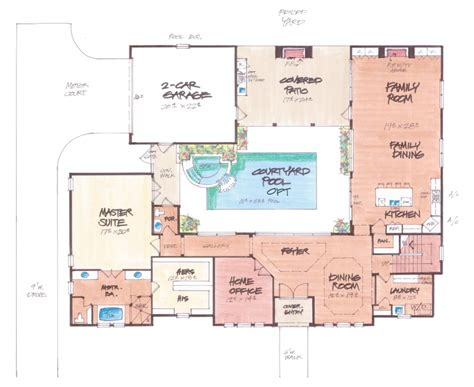 mediterranean style floor plans casa jardin home plan