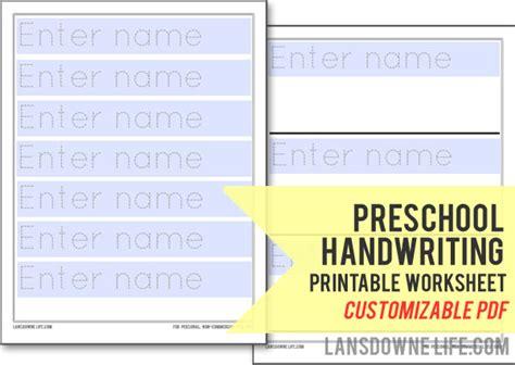 printable preschool name worksheets preschool handwriting worksheet free printable