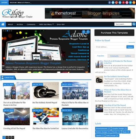 blogger themes for news 30 best cool simple blogger blogspot themes templates