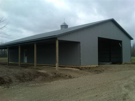 scheune bauen kosten pole barns lima ohio stahl mowery construction
