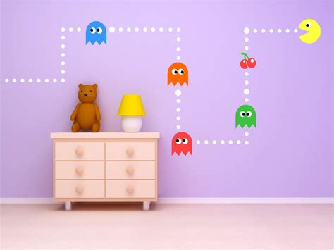 pac wall stickers wall stickers decorate your home today tcg