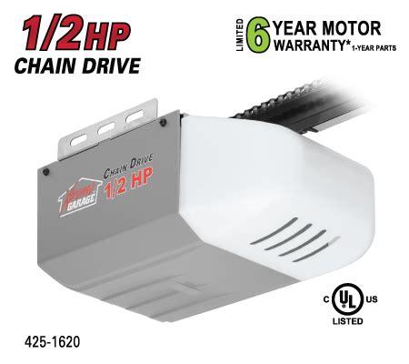 Xtreme Garage Door Opener 425 1620 1 2hp Chain Drive Opener