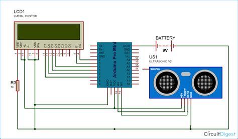 arduino code for ultrasonic sensor arduino distance measurement circuit diagram electronics