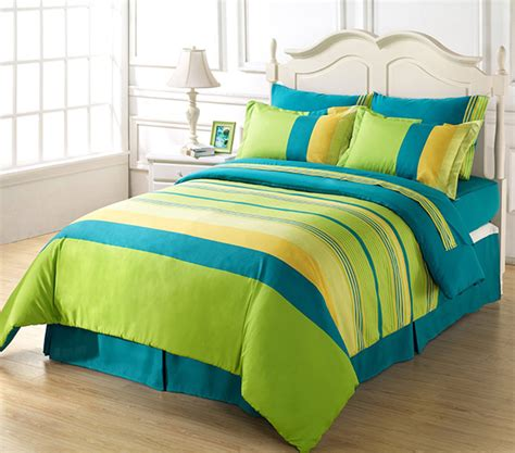 green and blue comforter blue and green bedding
