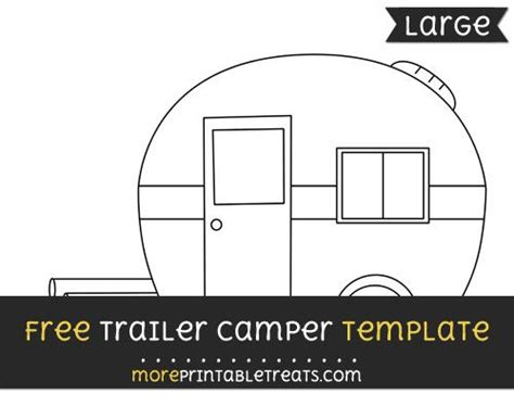 Free Trailer Cer Template Large Patterns And Templates Cer Templates Cing Clipart Trailer Templates Free