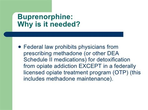 Buprenorphine Detox Schedule by Medication Assisted Recovery 2007