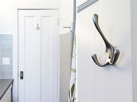 bathroom door hooks our budget bathroom update four fixes for under 20