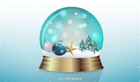 vector snowglobe vector