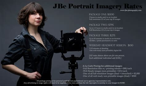 Portrait Photography Pricing jbe photography portrait pricing