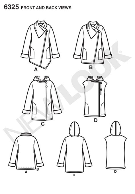 pattern cutting made easy review new look 6325 misses easy coat with length and front
