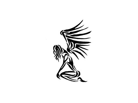 tribal angel tattoo thin tribal pictures to pin on