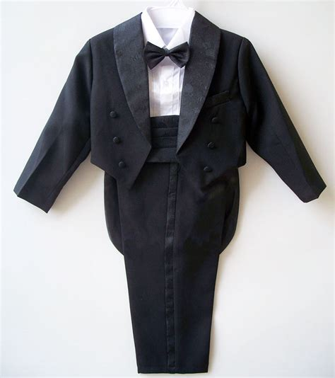 white tuxedo suit for a 1 year old boys suits for weddings kids prom suits black white