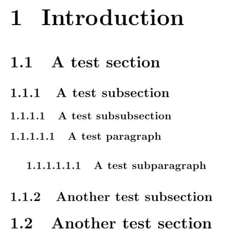chapter and section sectioning how to number section and subsection properly