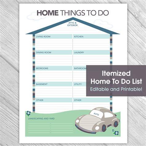 printable to do list for home printable editable home to do list things to do list home