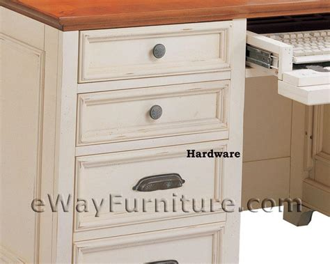 distressed office furniture distressed white 66 inch executive home office desk