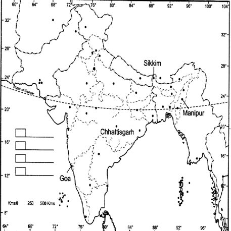 An Outline Political Map Of India by Ncert Solutions For Class 10th Ch 2 Federalism Civics 171 Study Rankers
