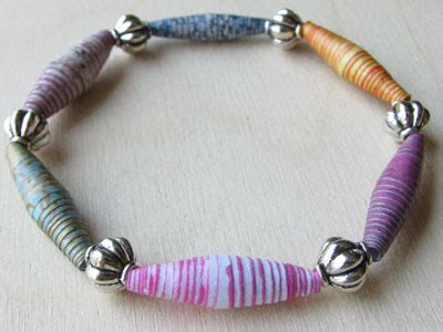 How to make Striped Paper Beads that You'll Love to Wear   I Love Paper Beads