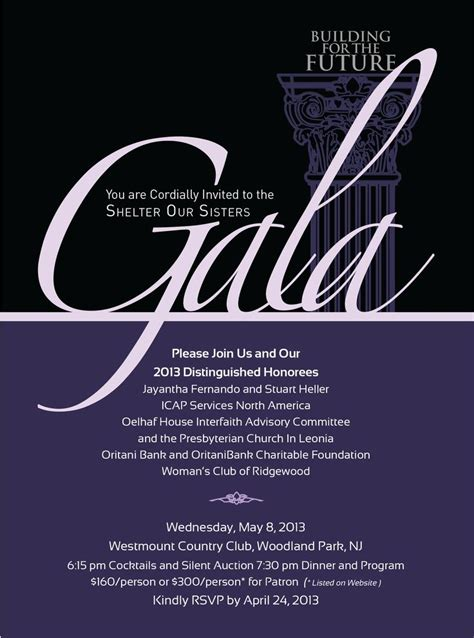 gala themes names gala invite for a local women s shelter my creative