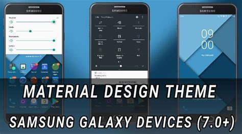material design themes android get material design theme on samsung devices android 7 0