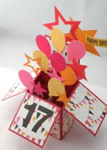 3d birthday card box card with balloons by apaperparadise