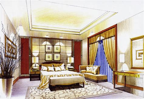 sketch interior design bedroom interior design sketch