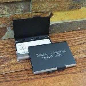 Matte Black Business Card Holder