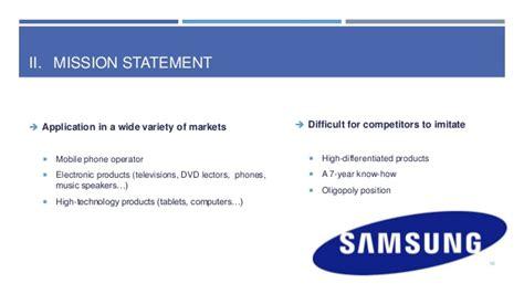mission statement of samsung company marketing samsung study
