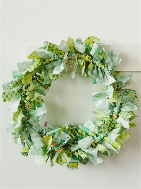 wreath crafts for craft make an easy rag wreath hgtv