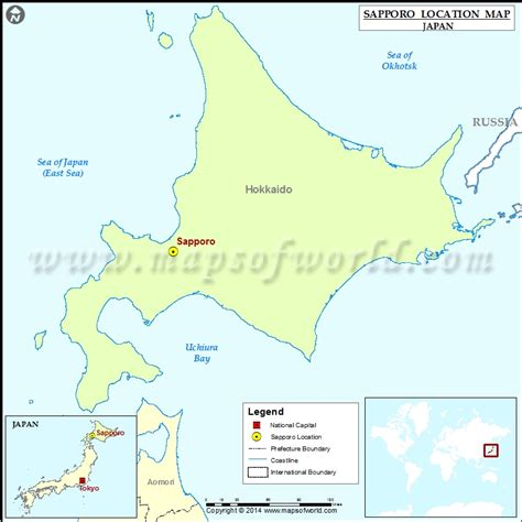 printable map hokkaido where is sapporo location of sapporo in japan map