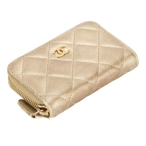 Marc Mix Quilted Classic Coin Pouch by Chanel Gold Quilted Lambskin Leather Zip Coin Purse Pre