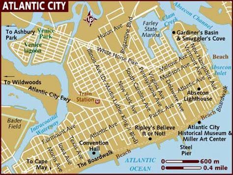 atlantic city map map of atlantic city