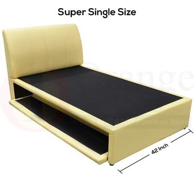 super single bed qoo10 promotion 8021 single super single bedframe with pullout bed promo
