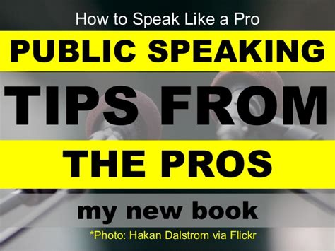 Tips From The Pros by Speaking Tips From The Pros The Speaking Book