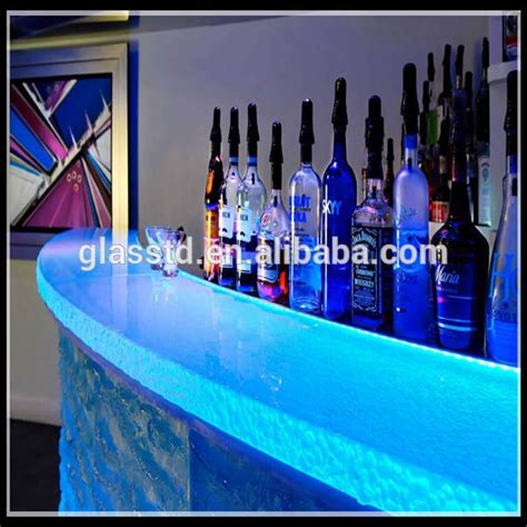 acrylic bar top luxury led lit glass countertops acrylic bar counter buy