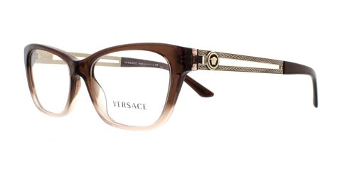 versace eyeglasses ve3220 5165 brown light brown